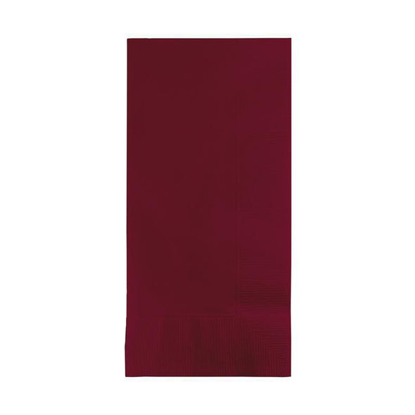 Dark Burgundy Red Paper Dinner Napkins