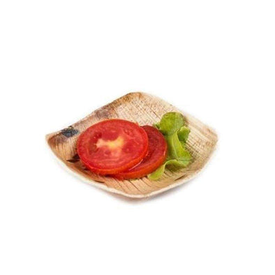 3 oz. Square Palm Leaf Eco Friendly Mini Disposable Sample Plates