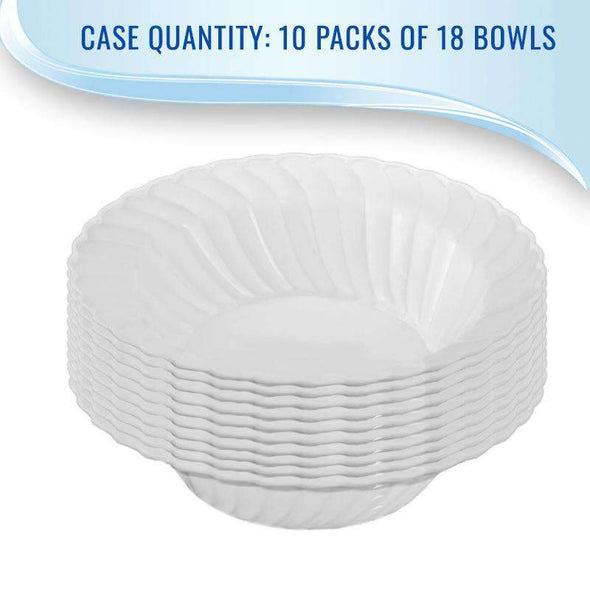 White Flair Disposable  Plastic Wedding Soup Bowls