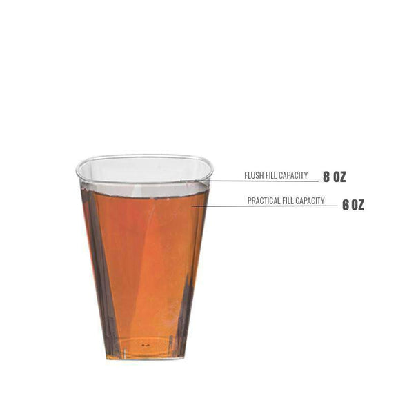 Clear Square Disposable Wedding Plastic Cups
