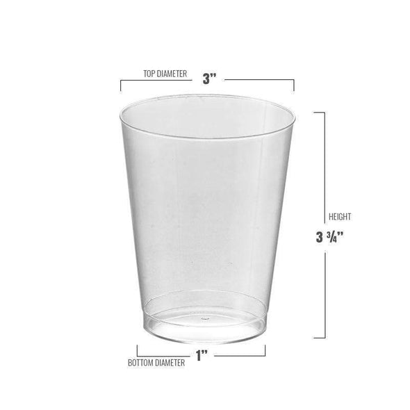 Disposable Clear Round Wedding Plastic Cups