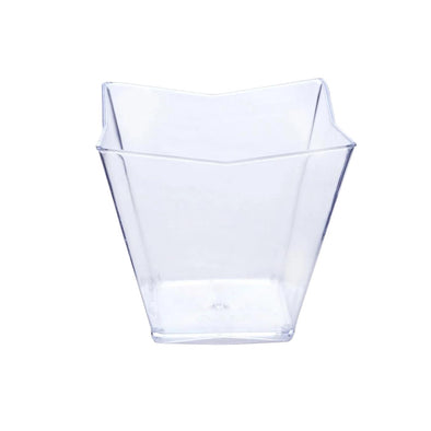 Clear Square Disposable Plastic Dessert Cups