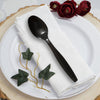 Black Plastic Disposable Spoons