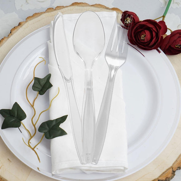 Clear Plastic Disposable Forks
