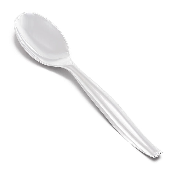 Clear Disposable Plastic Serving Spoons