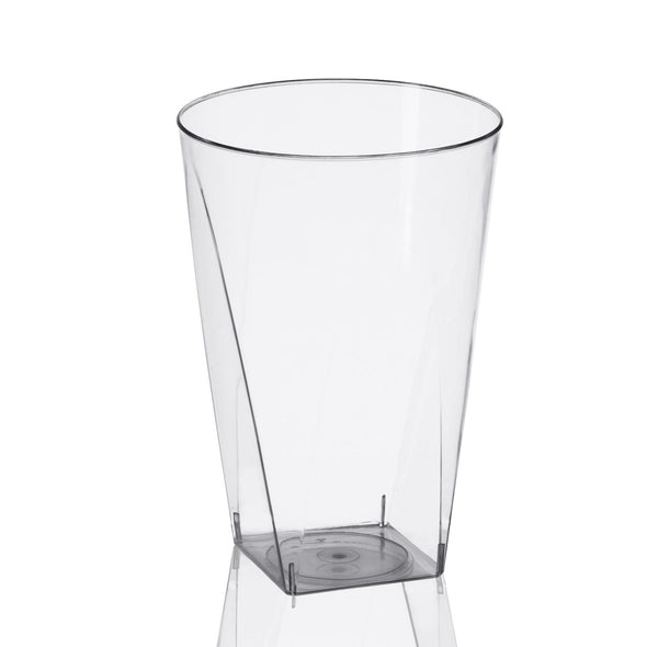 10 oz. Clear Square Bottom Disposable Plastic Cups
