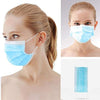 Blue Disposable Face Masks with Elastic Ear Loop