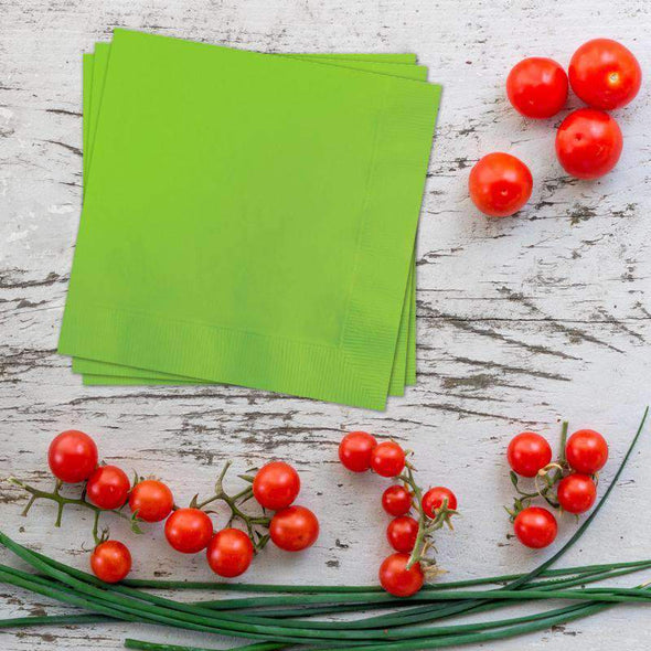 Lime Green Paper Cocktail Napkins