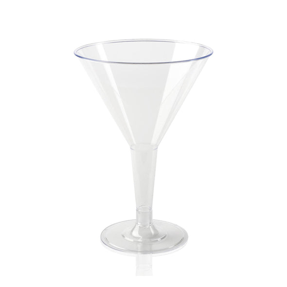 6 oz. Clear Plastic Martini Glasses