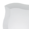 "10"" White Wave Plastic Dinner Plates"