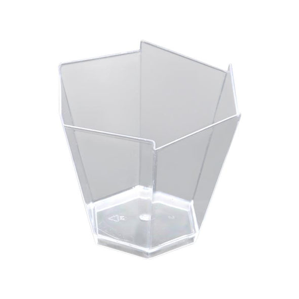 Clear Small Hexagonal Disposable Plastic Cups