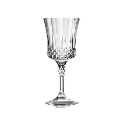 Disposable Crystal Cut Wedding Plastic Wine Goblets