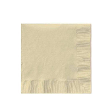 Disposable Ivory Paper Wedding Cocktail Napkins