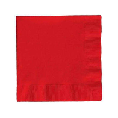Red Disposable Paper Wedding Cocktail Napkins
