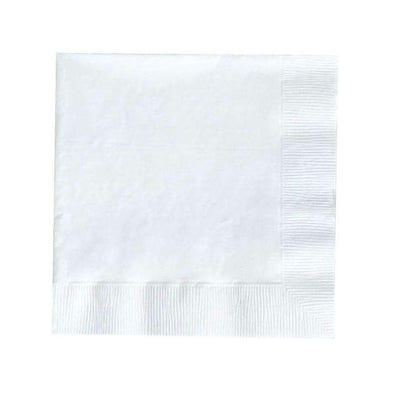 White Disposable Paper Wedding Cocktail Beverage Napkins