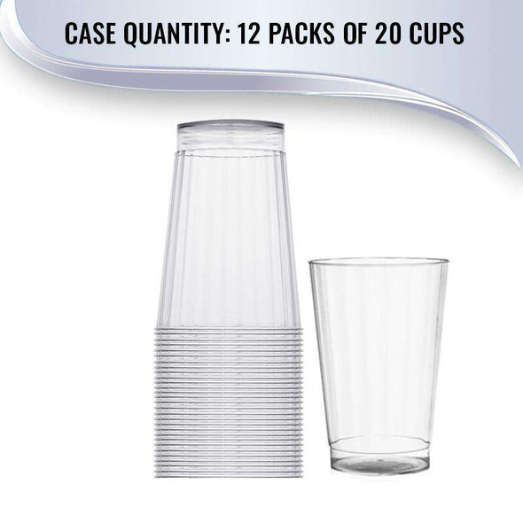 12 oz. Crystal Clear Round Hard Plastic Tumblers