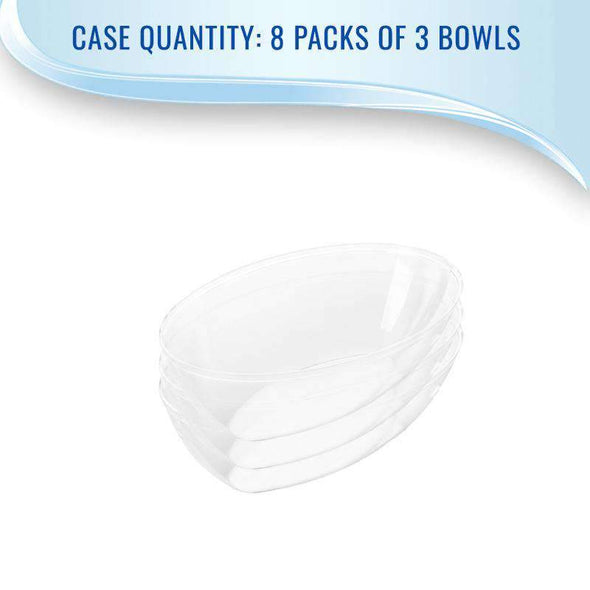 Clear Oval Disposable Plastic Wedding Serving Bowls