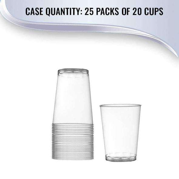 Clear Round Disposable Plastic Wedding Cups