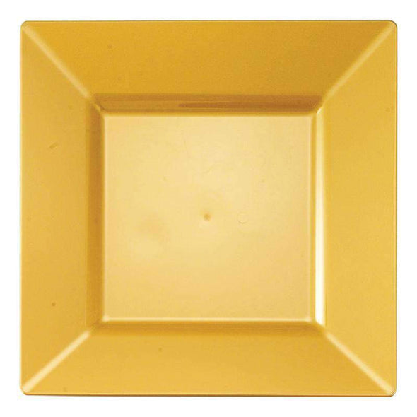 Gold Square Disposable Wedding Plastic Salad Plates