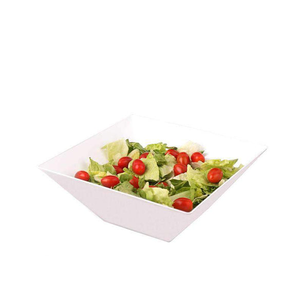 White Square Disposable Plastic  Wedding Serving Bowls