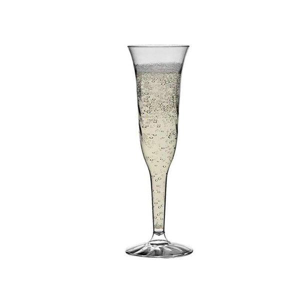 Clear Disposable Plastic Wedding Champagne Flutes