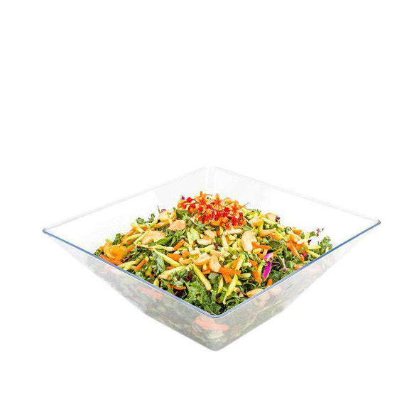 Clear Square Plastic Disposable Wedding Serving Bowls