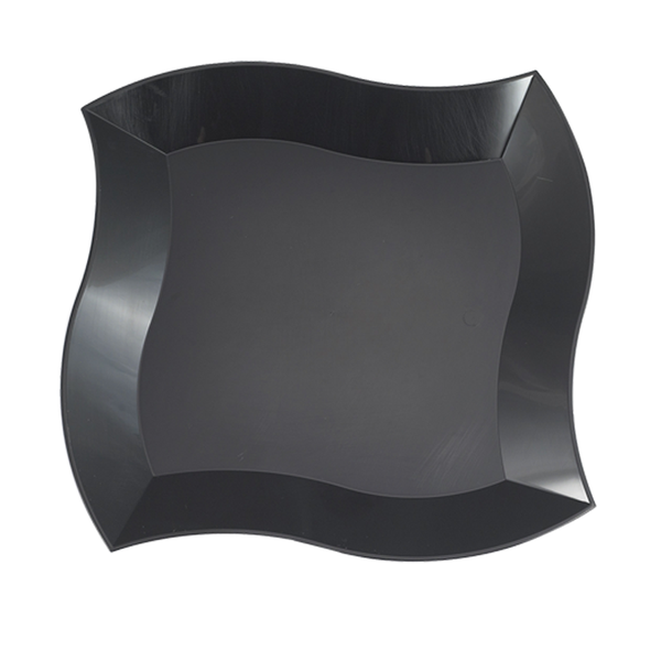 Black Wave Plastic Appetizer/Salad Plates