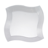"7"" Clear Wave Plastic Appetizer/Salad Plates"