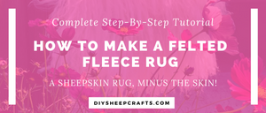 How to Make a Felted Fleece Rug | home decor, crafts, tutorial, diy