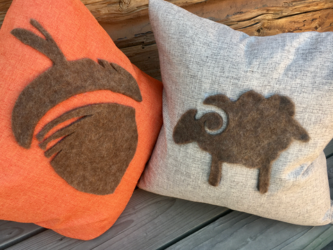 DIY Sheep Crafts | How to Make a Wool Felt Silhouette Pillow | diysheepcrafts.com