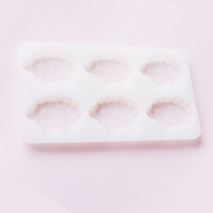 Sheep Shape Soap Bar Mold – Silicone 6 cavity