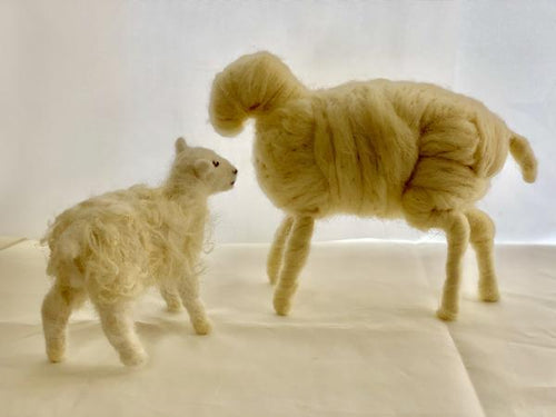Learn to 3-D Needle Felt Sheep Sculptures with the Craft Box by DIY Sheep Crafts