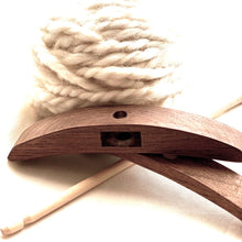 Turkish Drop Spindle - Solid Oak - hand spinning yarn