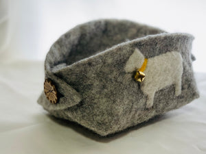 Learn How to Make a Boiled Wool Felt Catchall and Needle Felt with the Craft Box by DIY Sheep Crafts