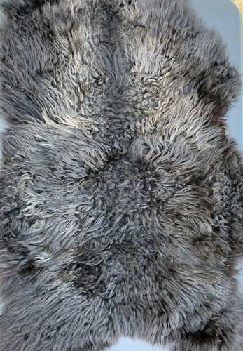 Icelandic Sheepskin - black and silver adult sheepskin 35 x 25 inches