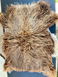 Icelandic Sheepskin - brown mouflon 33 x 24 inches