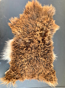 Icelandic Young Lamb Sheepskin - brown mouflon 24 x 14 inches