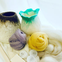 Learn How Wet Felt Luminaries - Lanterns - Wool Light Vessels with the Craft Box by DIY Sheep Crafts