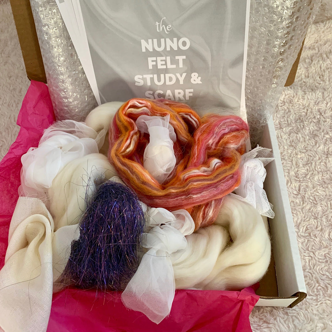 Learn to Nuno Wet Felt - Wool and Silk Scarf with the Craft Box by DIY Sheep Crafts
