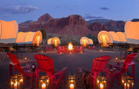 The Resort at Paws Up luxury fire pits vacation home or safari tent