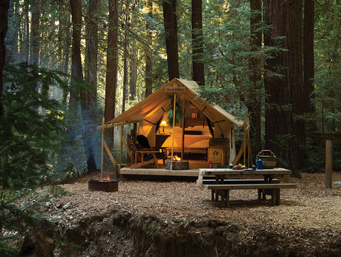 Ventana Big Sur Ventana has combined a romantic ambiance with the art of glamorous camping