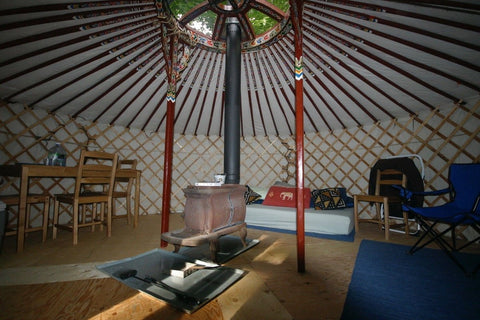 "Image of Groovy ""4 Walls"" – 16′ DIY Yurt Kit"