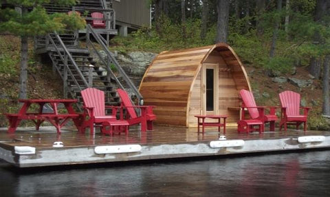 Image of Dundalk 880 Clear Cedar Pod Sauna - Premium Package