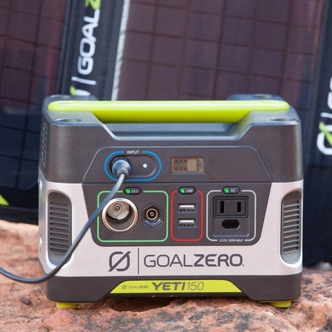 Image of Goal Zero Yeti 150 Power Station + Nomad 14 Plus Kit