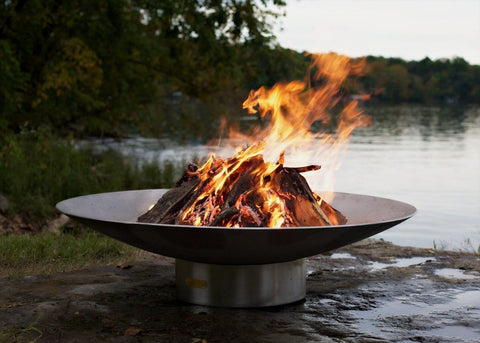 Fire Pit Art - Bella Vista 70'' Stainless Steel