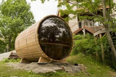 Image of Dundalk Panoramic View Outdoor Barrel Sauna - Standard package