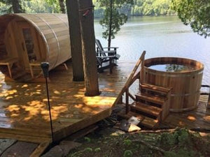 Dundalk Wood Burning Cedar Hot tub