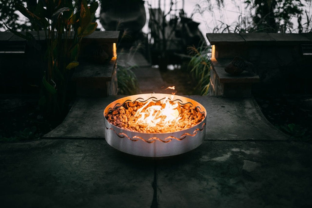 Fire Pit Art - Fire Surfer Stainless Steel