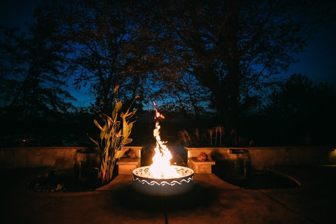 Image of Fire Pit Art - Fire Surfer Stainless Steel