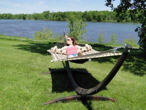 Image of Universal Camping - Wicker hammock stand